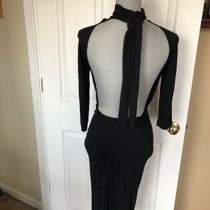 Zara open back black dress sz 4